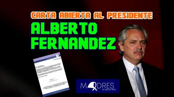 CARTA ABIERTA AL PRESIDENTE ALBERTO FERNÁNDEZ